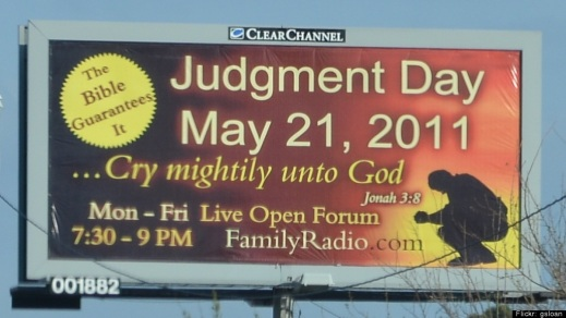 May 21 2011 Doomsday billboard